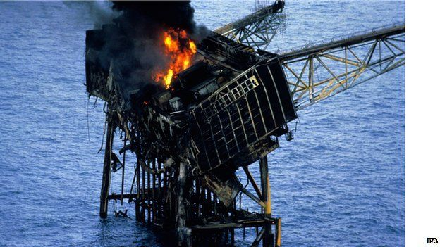 Piper Alpha was constructed in Cherbourg but assembled at Ardersier, near Inverness, in 1975 It weighed 14,000 tonnes It had a crew of 226 men It was producing about 300,000 barrels of oil a day for Occidental Petroleum The dead included two crewmen from the standby vessel Sandhave