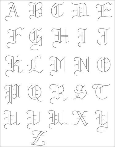 OLDE ALPHABET - Embroidery Patterns