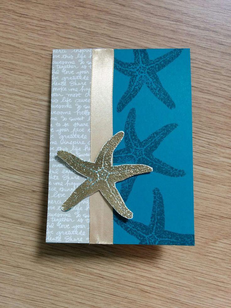 Gouden zeester met Picture Perfect - Het Knutsellab - Stampin Up #stampinup #crafts #knutselen #stempelen