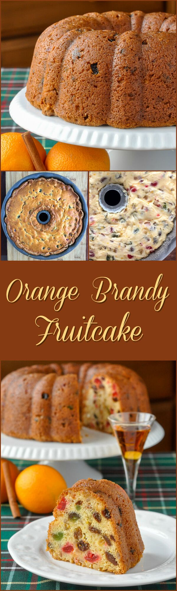 Orange Brandy Fruitcake - a rich cream cheese batter serves as the base for this simple but delicious citrus infused fruitcake that will be the absolute star of your Christmas baking.