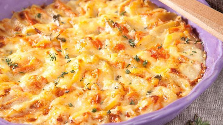 Kartoffel-Kürbis-Gratin-Rezept
