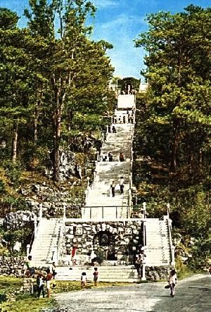 Baguio City - Lourdes Grotto - according to natives, walk up the stairs, say a little prayer and make a wish...your wish will come true.