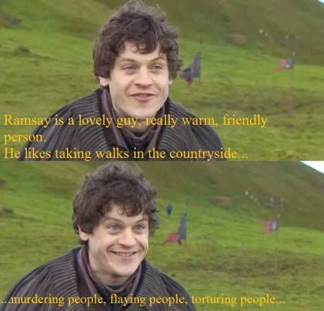 I HATE Ramsay Bolton but LOVE Iwan Rheon!!! :D Note: Not my caption. I love them both. Really, though, what's not to love? Hahaha.