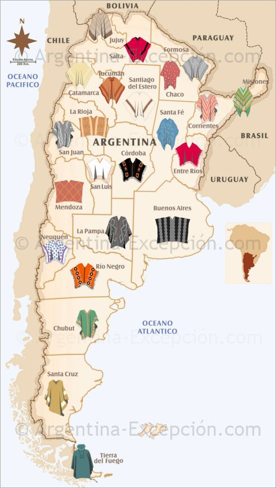 Poncho map of Argentina