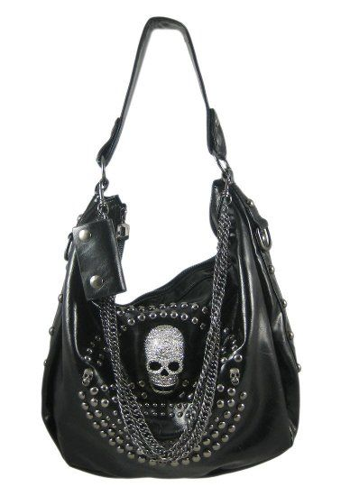 Black Gunmetal Studded Rhinestone Skull Bag - ended up with this one because the doctor bag style was n/a. ;)