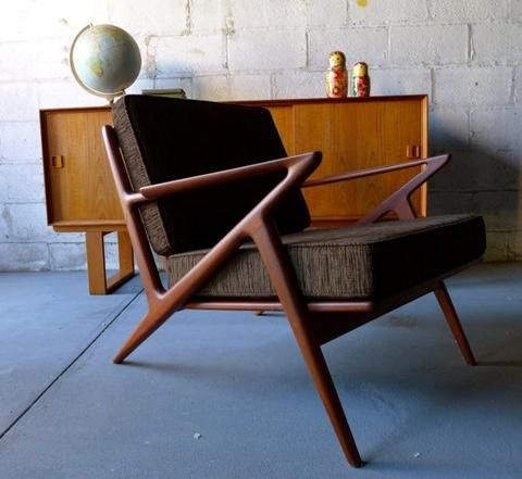 Mid Century Modern styled Z LOUNGE CHAIR