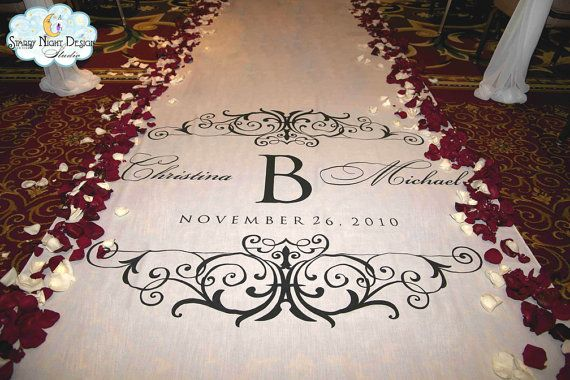 Aisle Runner, Wedding Aisle Runner, Custom Aisle Runner, on Quality Fabric that Won't Rip or Tear