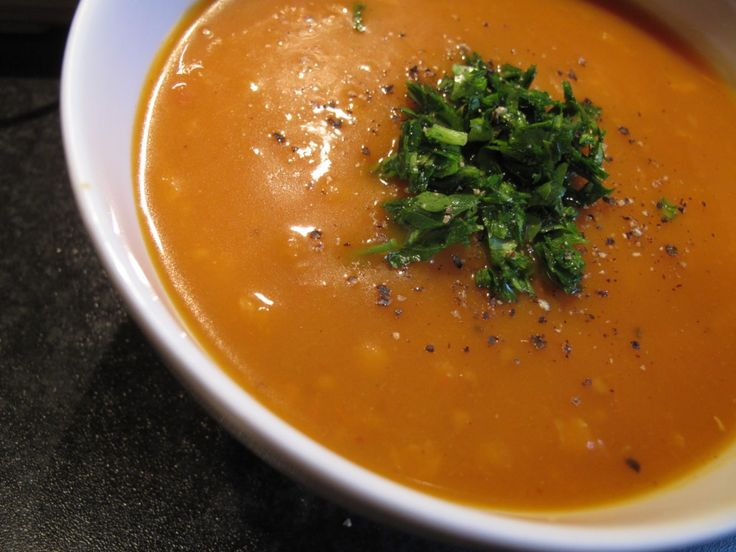 Spiced lentil and butternut squash soup
