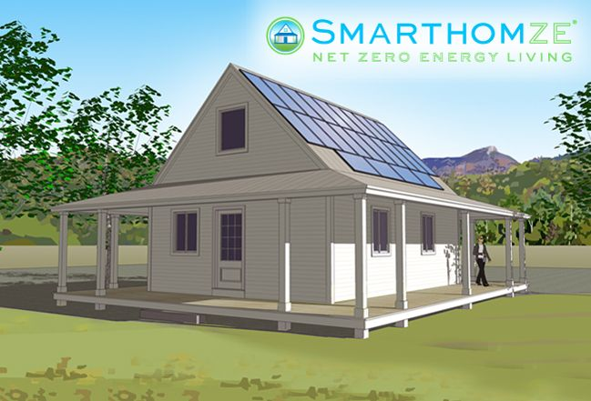 Zero net energy kit homes from vantem panel smarthomze for Sip panel home kits
