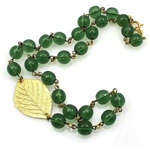 Green Statement Necklace. Leaf Necklace from Manic Trout Jewelry in Austin, Texas.   $70   MANICTROUT.COM.jpg