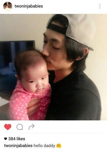 Dean Fujioka with baby Rin-chan