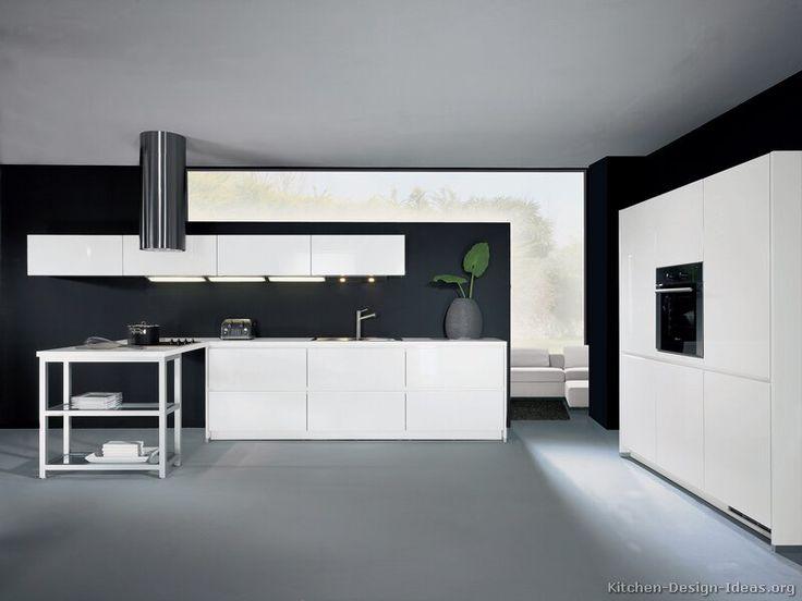 Modern White Kitchen Dark Floor 629 best modern kitchens images on pinterest | kitchen modern