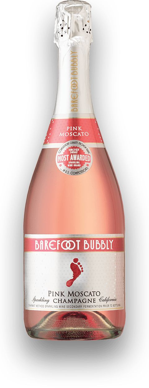 Barefoot Pink Moscato Bubbly, get the night started with our sweetest Bubbly