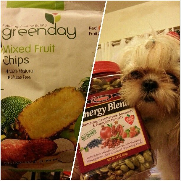 #greenday #mixed #fruit #chips #energyblend #edamame #cranberries #almonds #pumpkin #kernels #100% #natural #healthy #yymmy #snack with Luna:-) #shihtzu #dog #family #philippines #ヘルシー #スナック と ルナ:-) #シーズー #犬 #フィリピン #ドライブフルーツ