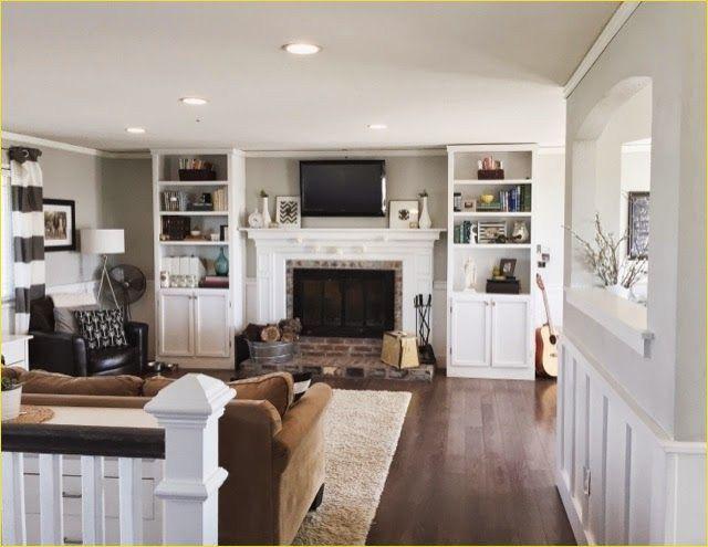 37 Cozy Split-level Living Room Fireplace Ideas | Living ...