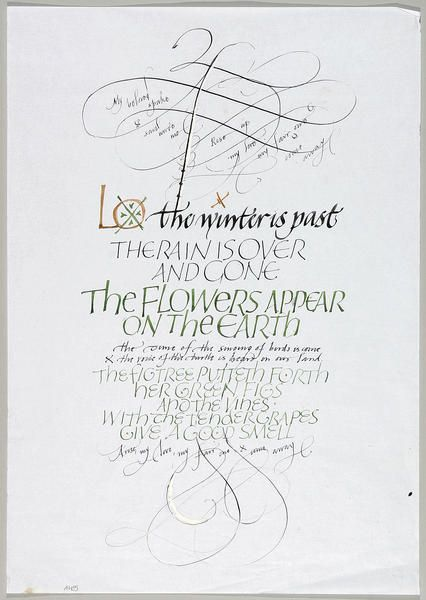 Ann Hechle, Lo, the Winter is past, from the Song of Solomon