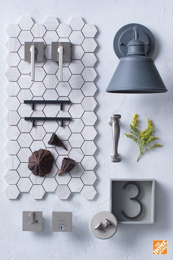 One of the simplest ways to boost your home's style is to update the decorative hardware, like your door knobs, door locks, and handles. Modernize your kitchen or bathroom by choosing one to two tones, like brushed nickel and matte black. The black will contrast against the light brushed nickel, adding on-trend style without overpowering your space. Click for more tips and trends on our blog.