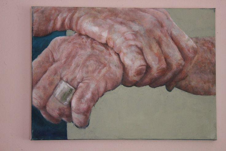"""Hands"" series in oil"