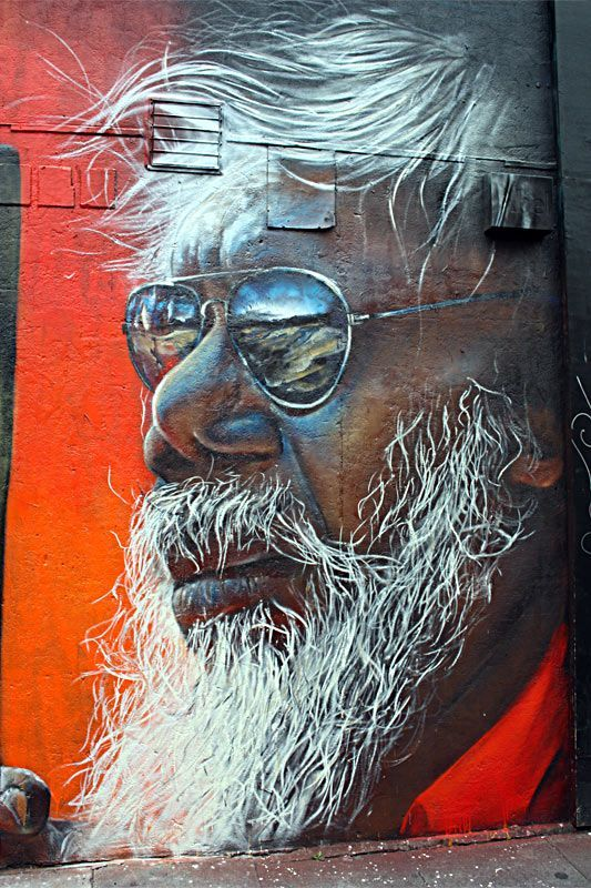 Adnate - Brick Lane Street Art in London - santa claus is coming to town