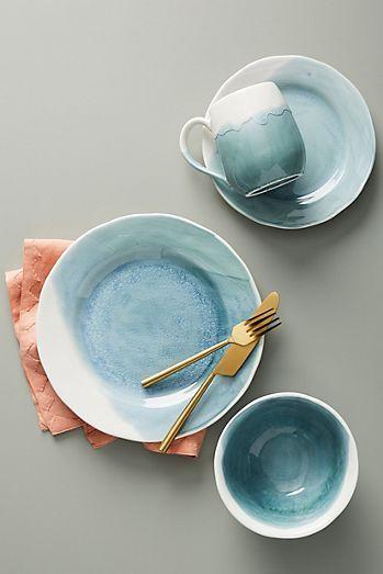 Set aus 4 kleinen Cabarita Tellern (Affiliate Link) Home, Interior - edles geschirr besteck porzellan silber