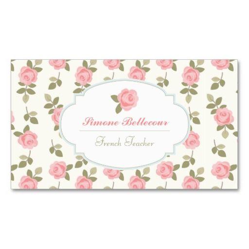 268 best retro vintage business card templates images on pinterest alice romantic vintage roses business card templates reheart Choice Image