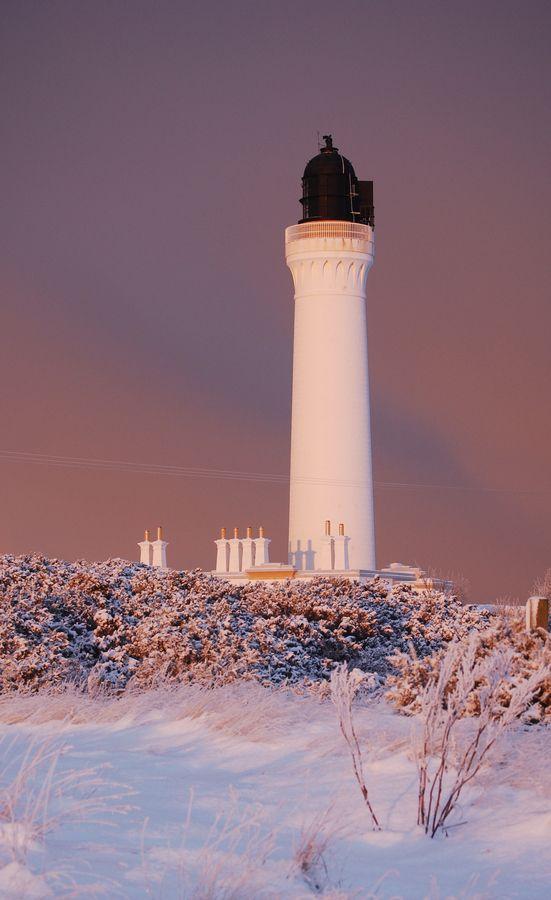Covesea Lighthouse, Lossiemouth, Moray, Scotland.