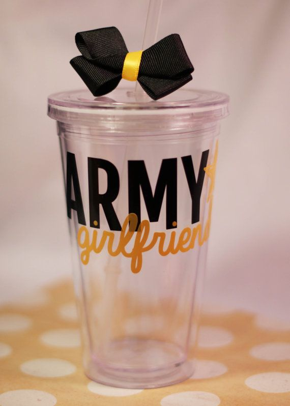 Personalized Army Girlfriend 16 oz Tumbler on Etsy, $10.00