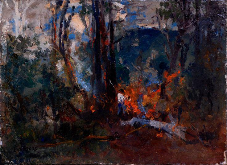 Bush Fire c1936. Miles Evergood. Australian