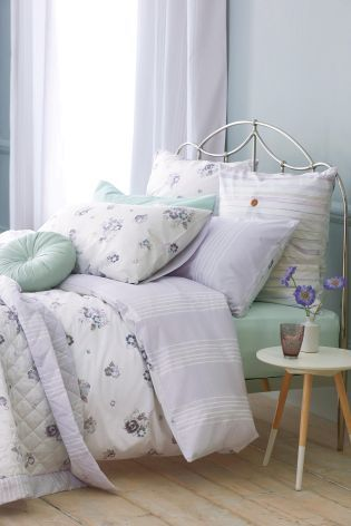 Two Pack Cotton Rich Pressed Flowers Bed Set from Next