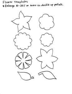 Flower template for felt flowers
