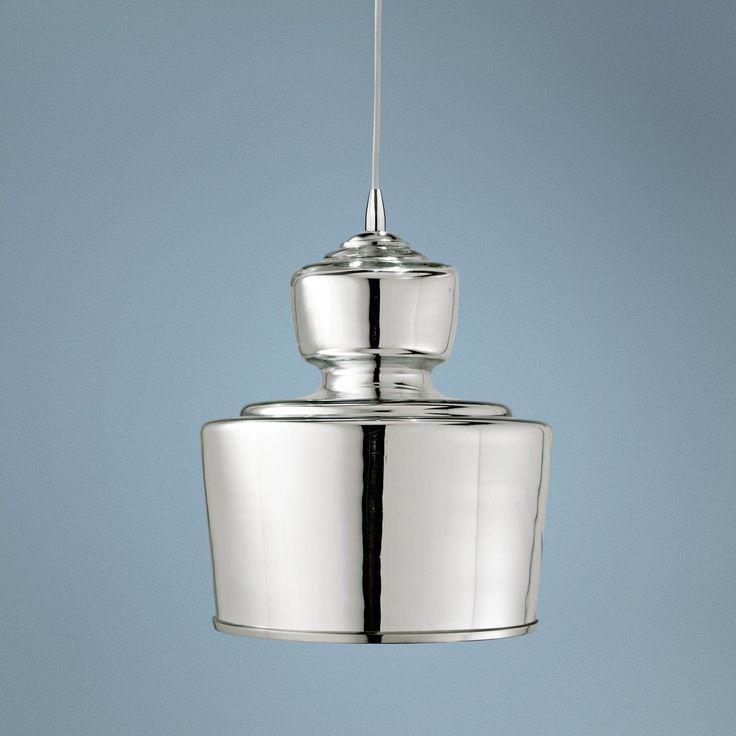 "Jamie Young Lafitte Mercury Glass 10"" Wide Pendant Light"