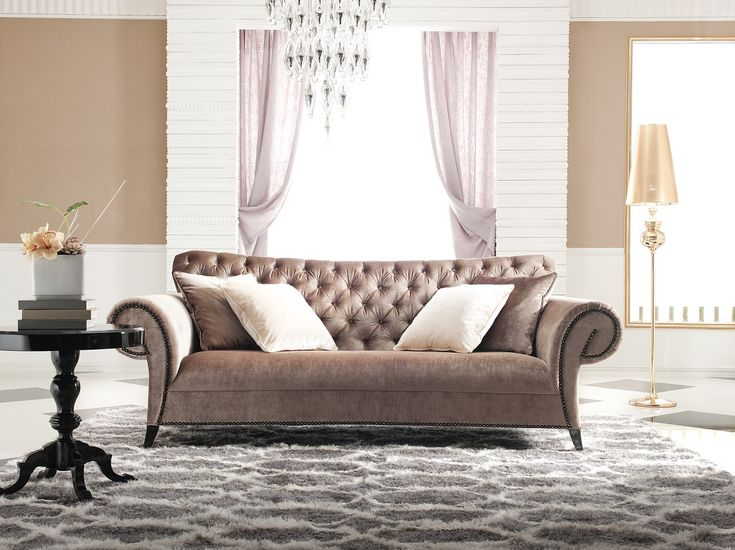 Tufted Sofa - Velvet Sofa - Estacado