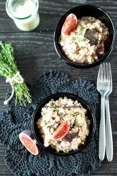 Fig and Goat Cheese Pearl Barley Risotto with Fresh Thyme, http ...