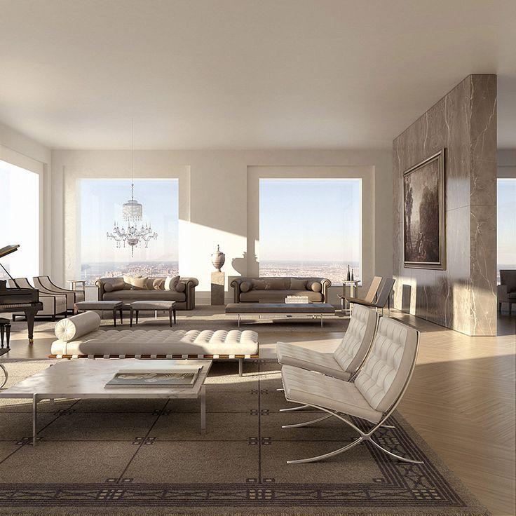 aperçu dun penthouse à 95 millions de dollars   432 park avenue manhattan penthouse a 95 millions de dollars luxe 10