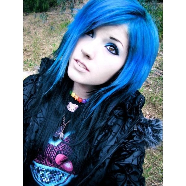 leda monster bunny blue and black hair