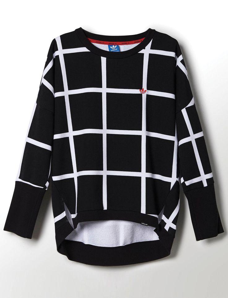ADIDAS Modern Tartan Crewneck Sweater