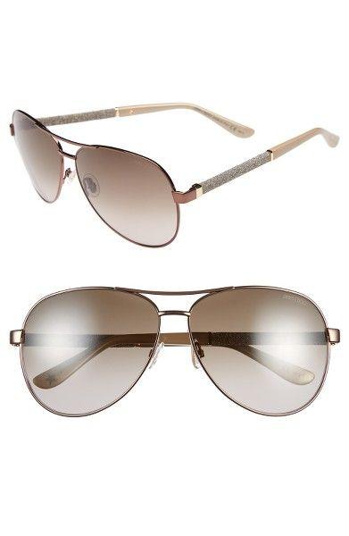 Main Image - Jimmy Choo 61mm Aviator Sunglasses
