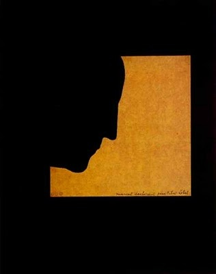 1957 Marcel Duchamp self-portrait that inspired Milton Glaser for his famous Dylan poster.