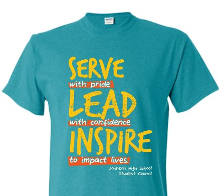 Spirit High School T Shirt Design Tee Idea Student Council StuCo Stu Co  Service With
