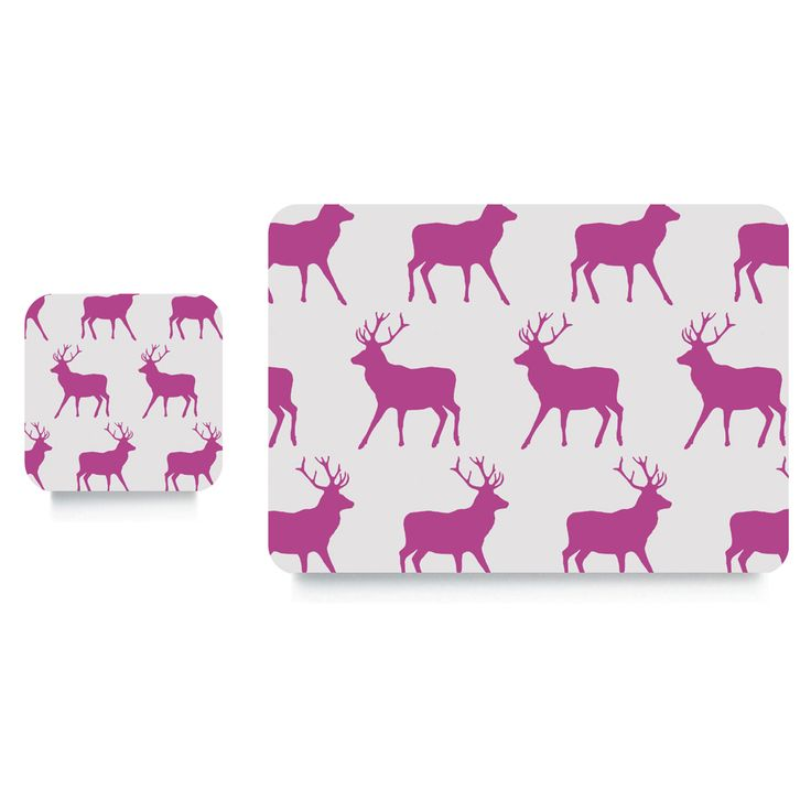 Stag Table Mats/Coasters #gifts #tableware