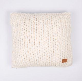 Almohadón Tehuelche, lana gruesa crudo