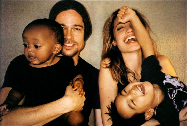 Brad Pitt, Angelina Jolie and their child for Let Me in.