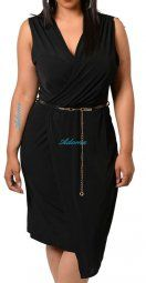Black Wrap Plus Size Dress $69.90