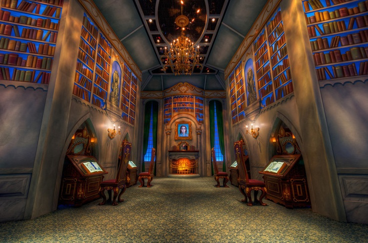 Beast's library. Disneyland, California adventure.