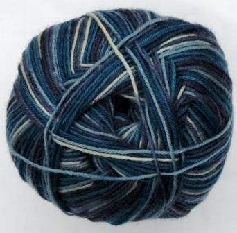 Hot Socks Stripes 4-fach superwash - Blue lagune stripes 1661-615, 75% Merino superwash by ColorfullmadeShop on Etsy