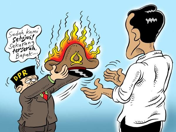 Mice Cartoon, Harian Rakyat Merdeka: Bola Panas