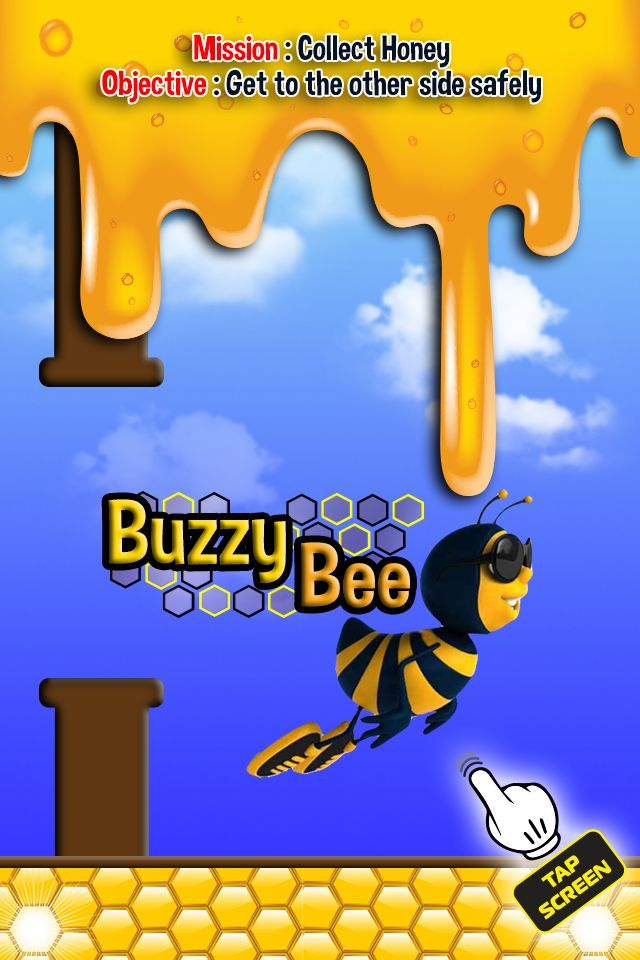 Buzzy Bee is a cool iOS game based on the Flappy Bird game that did so well.