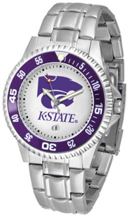 Kansas State Wildcats Competitor Watch with a Metal Band
