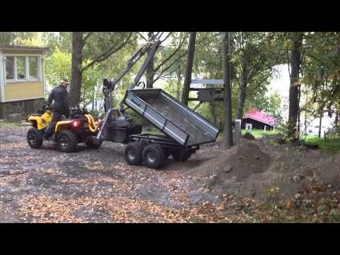 Nokka Forest Pro 4WD ATV trailer - YouTube