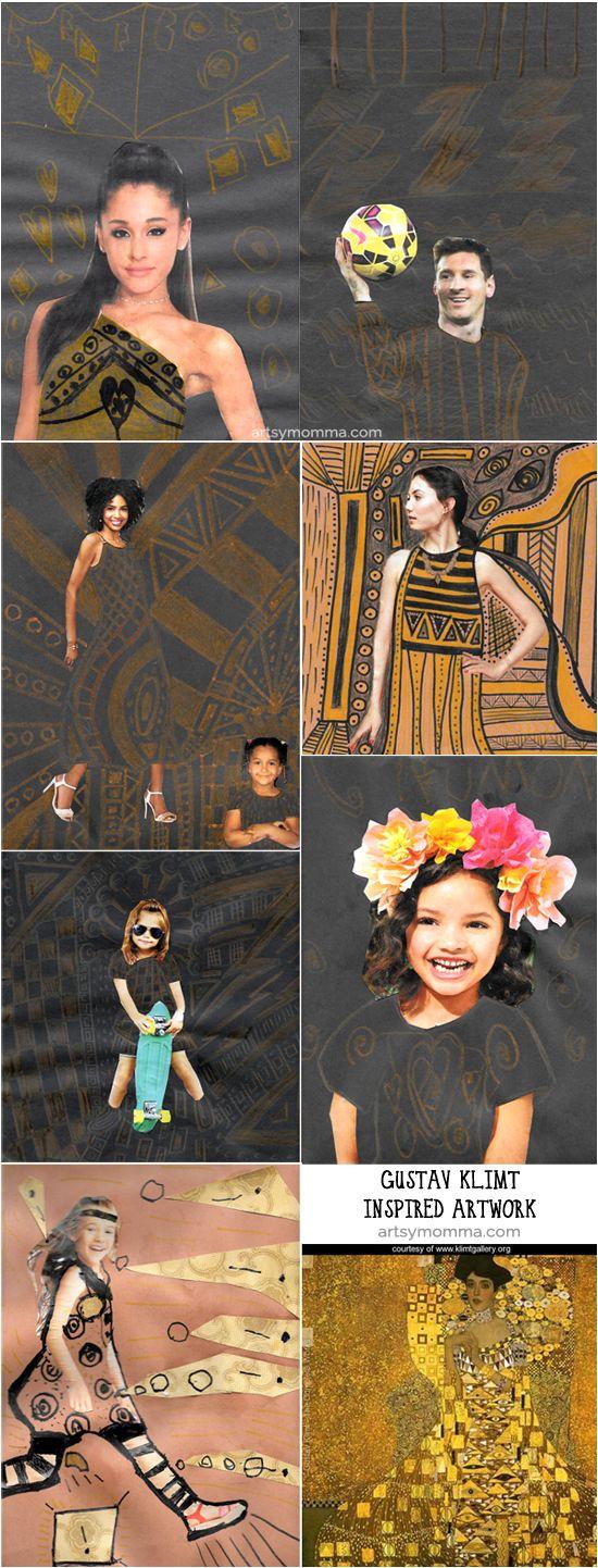 Kids Art Projects Inspired By Gustav Klimt's Portrait Of Adele Bloch Bauer I